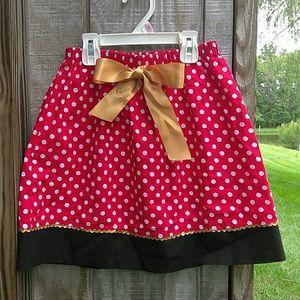 Minnie insp. Red & White Polka Dot Skirt